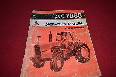 Allis Chalmers 7060 Tractor Operator's Manual AMIL8