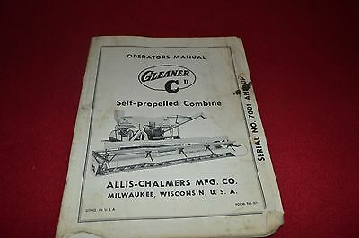 Allis chalmers gleaner a combine operators manual 1797 picclick allis chalmers c ii gleaner combine operators manual amil8 publicscrutiny Images