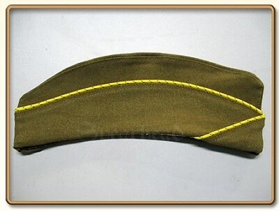 WWII US WAC  (Women's Army Corps) Enlisted Garrison Cap Mustard 57 Free Shipping