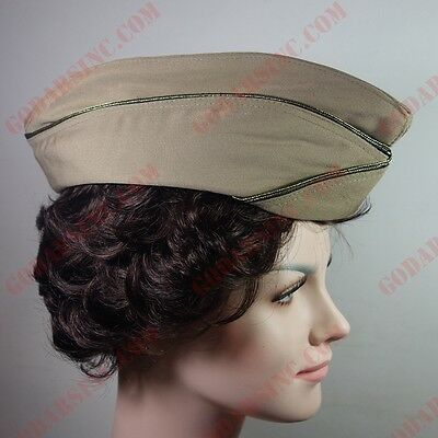 """WWII US WAC  (Women's Army Corps) Officer Garrison Cap """"Pink"""" 58 Free Shipping"""