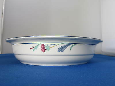 LENOX Chinastone POPPIES ON BLUE, 9 3/4 inch Round Vegetable Bowl