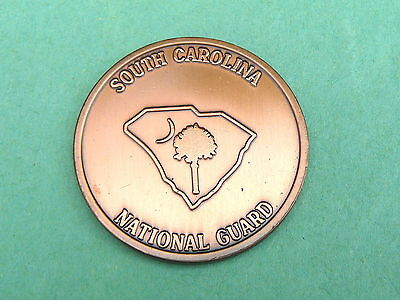 """Vintage! SOUTH CAROLINA NATIONAL GUARD """"copper"""" CHALLENGE COIN @ Palmetto Moon"""