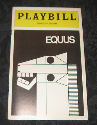 Playbill EQUUS signed by Edward Albee, May 1976, Plymouth Theatre