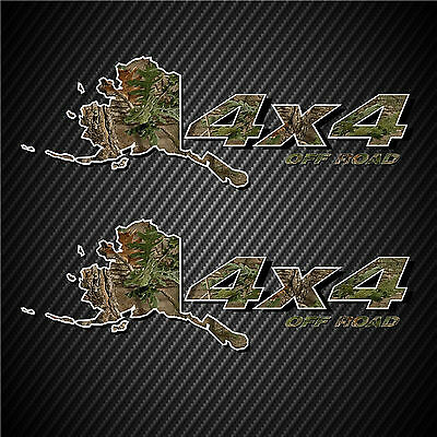 4x4 Truck Decals Alaska Edition Off Road Hunting Stickers Ford GMC Chevy Dodge