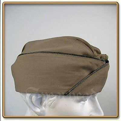 WWII US Army Officer Standard Issue Pink Gabardine Garrison Cap 59 Free Shipping