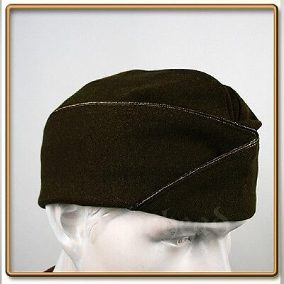 WWII US Army Officer Standard Issue Dark OliveDrab Garrison Cap 61 Free Shipping