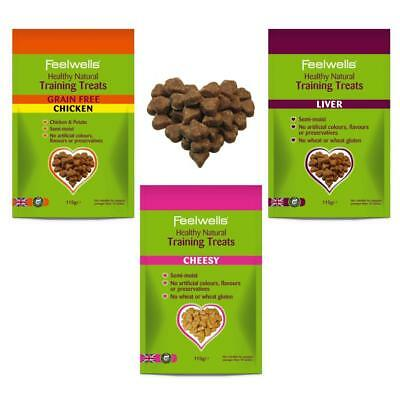 FEELWELLS TRAINING TREATS Dog Puppy Liver Chicken Cheesy Cheese Grain Free Treat