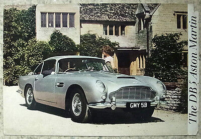 ASTON MARTIN DB5 SALOON & CONVERTIBLE Car Sales Brochure c1964