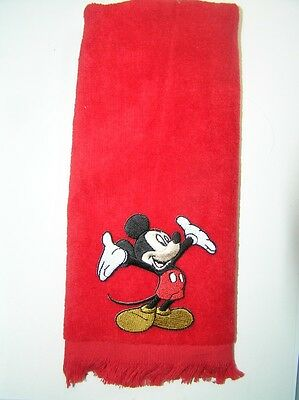 classic mickey mouse fingertip towel FREE SHIP  black vintage applique