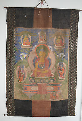 LARGE 19TH CENTURY THANGKA BUDDHA From Mark Lissauer collection