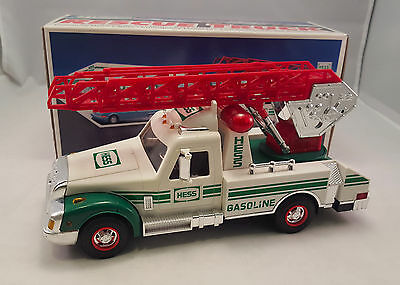 Vintage 1994 HESS Toy Truck Rescue Truck Ladder With Box Advertising