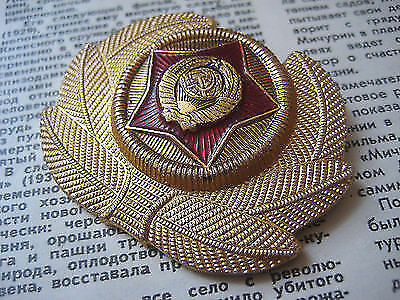 Soviet Officer's Cap  BADGE  made in 1970's..
