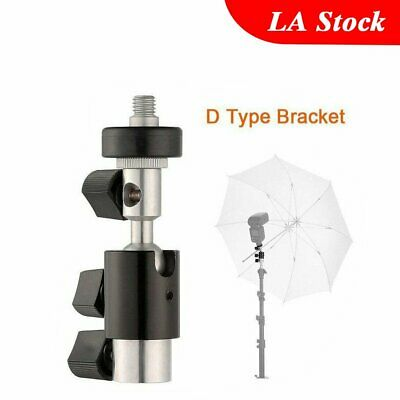 Type D Flash Bracket 360 Swivel Hot Shoe Umbrella Stand Holder Tripod 1/4 3/8
