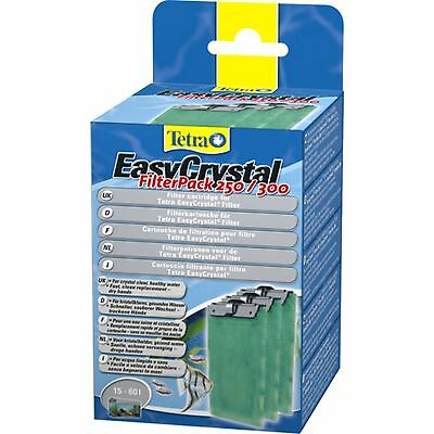 Tetra EasyCrystal Filter Pack 250/300 Floss Pads Coarse Fine Clear Water No Carb