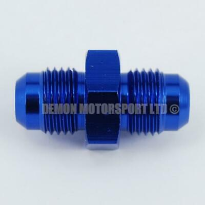 BLUE AN6 Straight Connector Joining Fitting Males (JIC 6AN -6)