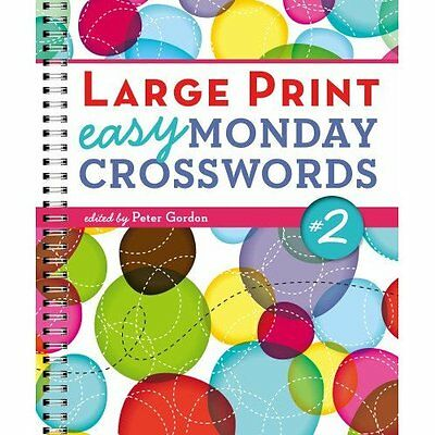 Large Print Easy Monday Crosswords No. 2 Gordon Sterling Paperbac. 9781454906483