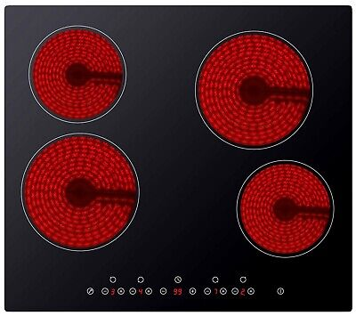 Cookology CET600 | Electric 60cm Built-in Touch Control Ceramic Hob in Black