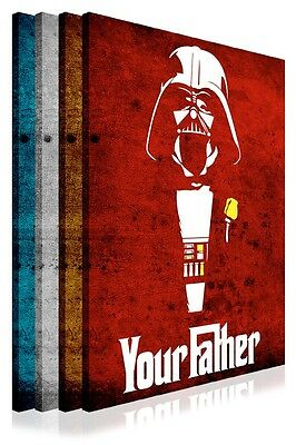 Darth Vader Your Father Quote Star Wars Framed Canvas Prints Wall Art Pictures