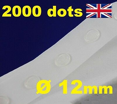 2000 Glue Dots Sticky Craft Clear Scrap Removable 12mm EASY LOW TACK GLU DOTS