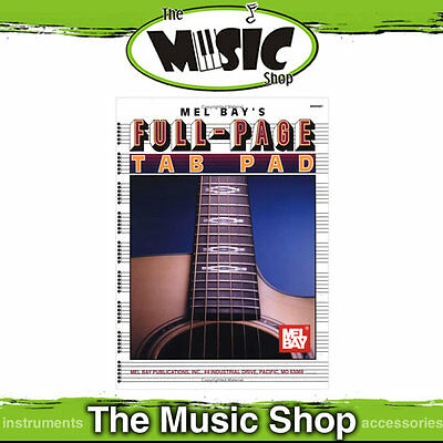 Full Page Tablature Pad, 50 pages of Blank Guitar Tab