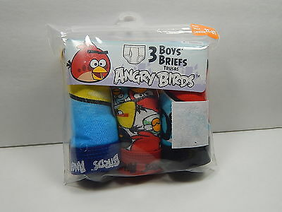 FOTL Angry Birds 3 Pair Pack Size 2T - 3T Briefs Toddler Boys Underwear