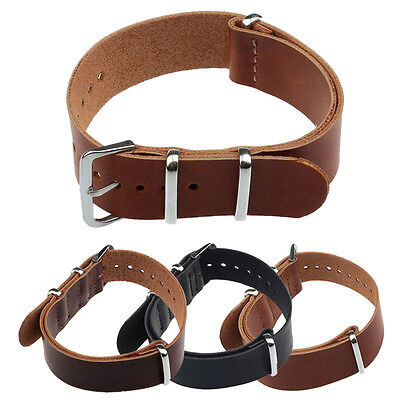Fashion Concise PU Leather 20/22cm Wrist Watch Band Strap Pin Buckle