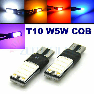 2x T10 CAR BULBS LED ERROR FREE CANBUS 48 CHIPS COB W5W 501 194 168 SIDE LIGHT