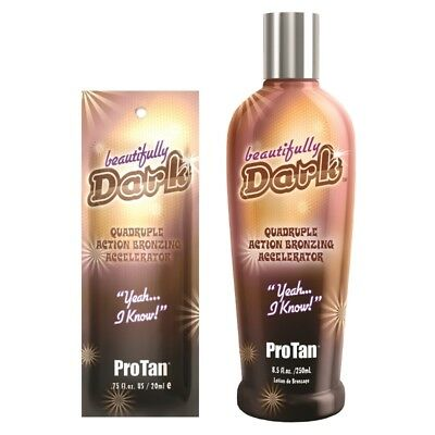 Pro Tan Beautifully Dark bronzer sunbed tanning lotion cream SACHETS or BOTTLES