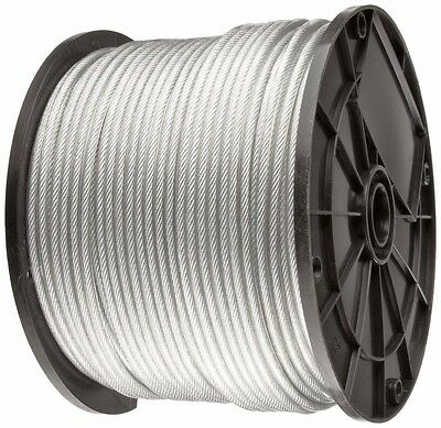 """Vinyl Coated Galvanized Cable ,1/16"""" - 3/32"""", 7x7, 1000 ft reel"""