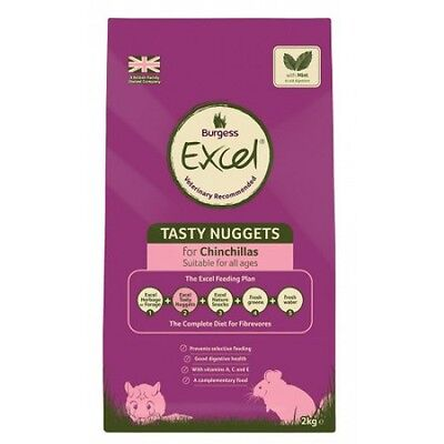 Burgess Excel Adult Chinchilla Nuggets Food with Mint 2kg