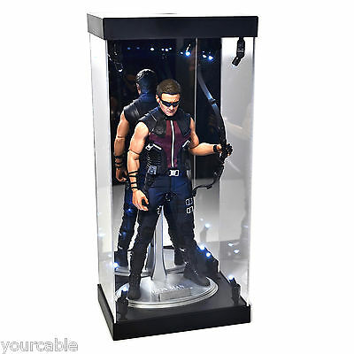 MB-1 Acrylic Display Case LED Light Box for 12 1/6th Scale Marvel HAWKEYE Figure