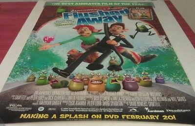 FLUSHED AWAY DVD MOVIE POSTER 1 Sided ORIGINAL 27x40