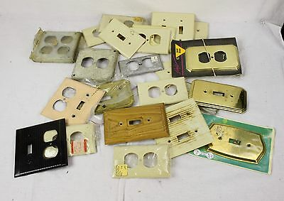 Vintage Light Switch & Electrical Outlet Covers Metal Wood Bakelite Plastic