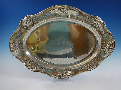"""Martele by Gorham .9584 Sterling Silver Large Meat Tray Platter 17 1/2"""" (#0924)"""
