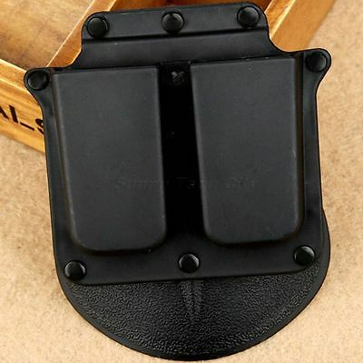 4500 Wide Belt Paddle Double Magazine Holster Pouch for 1911 Government Model