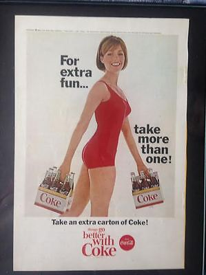 Framed orginial June 1965 National Geographic CocaCola ad