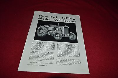 Allis Chalmers A Tractor Dealers Brochure PWPA