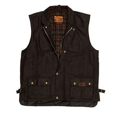 Burke and Wills   The Capricorn Oil Skin Vest - Brown 20% OFF !!