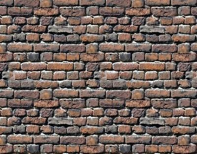 196Mm X 280Mm Ho Gauge/scale Self Adhesive Brick Wall Paper Sheets 1:87 Prb