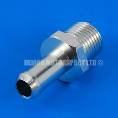 Aluminium 3/8 NPT Hose Adapter Fitting - 10mm - 11mm Barbed Push On Nipple
