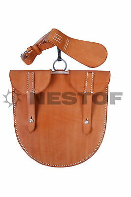 Reproduction WW1 german pionier shovel carrier - leather - made in Europe!