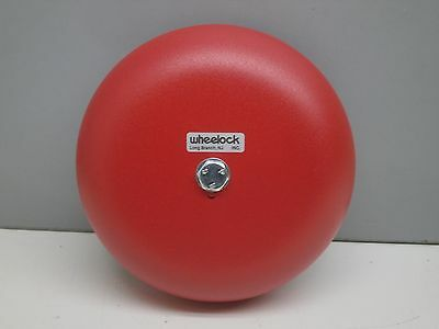 """Wheelock 101627 43T-G6-24-R Audible Signaling Fire Alarm Bell 6"""" Red 24-VAC"""