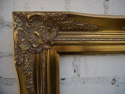 wide ornate gold traditional decorative victorian picture portrait frame 12x16