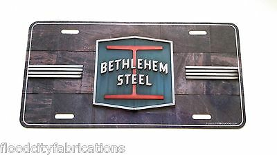 BETHLEHEM STEEL Custom Personalized License Plate PA TAG CAR Vanity ALUMINUM