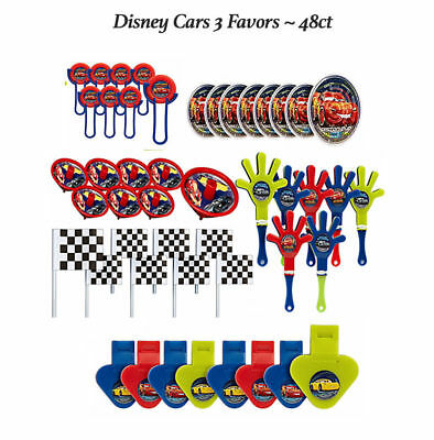 Disney Cars 3 Favor Pack BOYS BIRTHDAY Party Supplies Toys Pinata Fillers 48pc