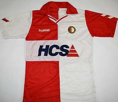1989-1991 Feyenoord Hummel Home Football Shirt (Size L)