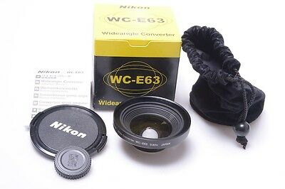 Mint* Nikon Coolpix 0.63X Wide Angle-Coverter Wc-E63 Complete