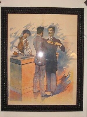 Magnificent Rare Antique French Poster by Affiches Camis Org. Late 1800s on Sale
