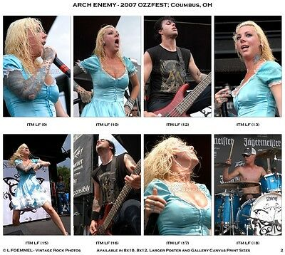 In This Moment Photos 4x6 inch Set of 36 Pro Prints 2007 Ozzfest Columbus, OH L1