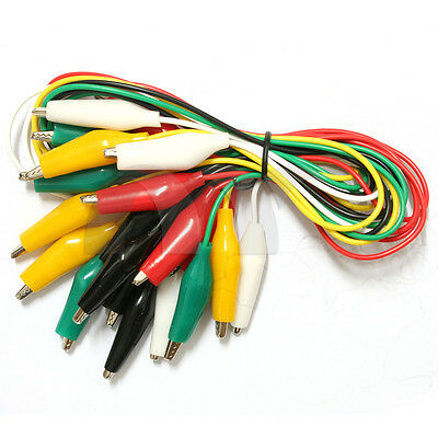 10 Pcs Both Ends Crocodile Alligator Clip Electronic Cable Test Lead Jumper Wire